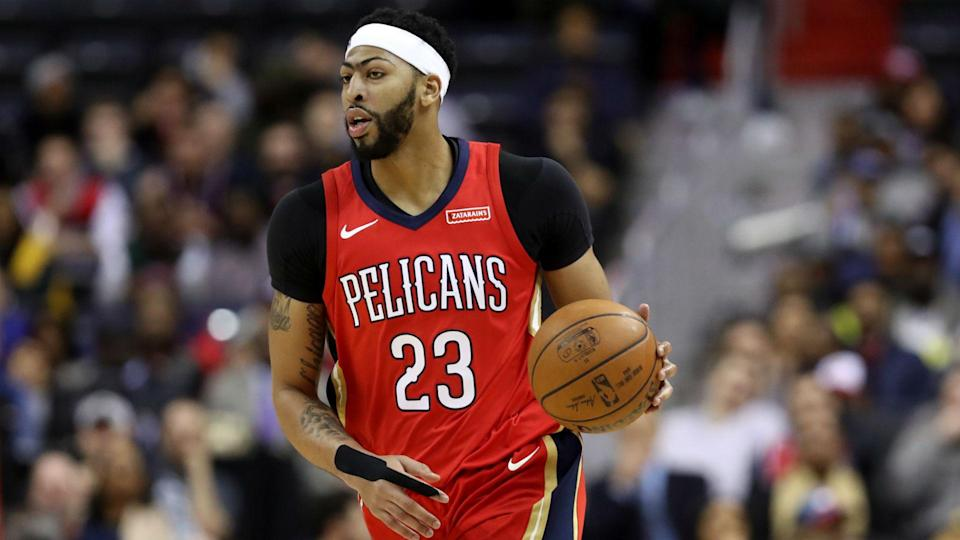 Anthony Davis is now healthy, but New Orleans won't let him play. (AP)