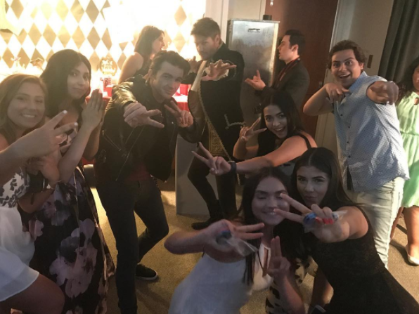 Attendees posted photos with actors Jake T. Austin and Drake Bell. (Photo: Instagram/cassidillllllla)