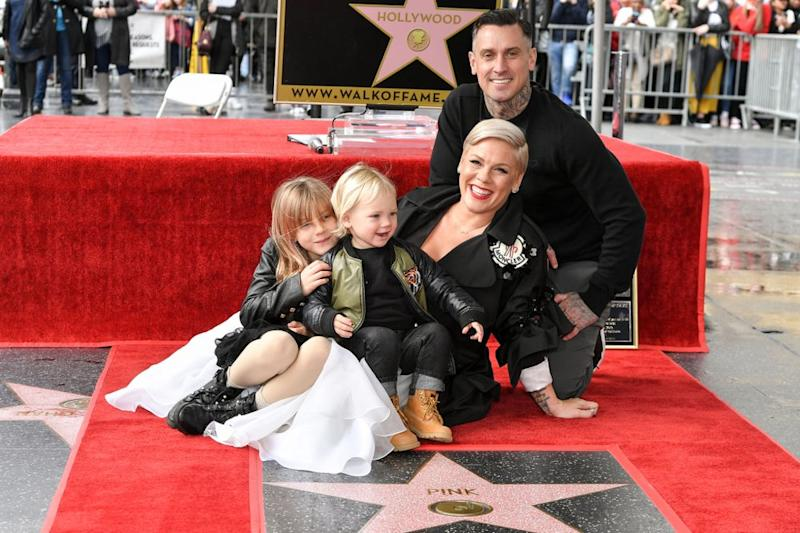Pink and Carey Hart with their children | Rob Latour/Variety/Shutterstock