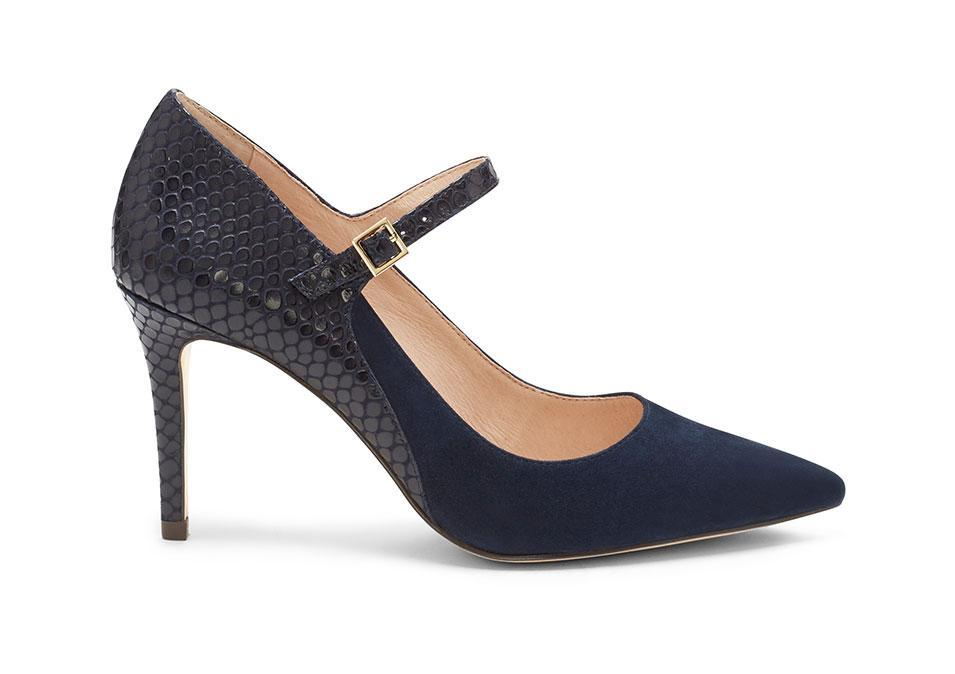 """<p>Louise et Cie 'Ione' Heel, $129,<a rel=""""nofollow noopener"""" href=""""http://www.vincecamuto.com/louise-et-cie-ione--mary-jane-point-toe-heel/LO-IONE.html#start=1"""" target=""""_blank"""" data-ylk=""""slk:louiseetcie.com"""" class=""""link rapid-noclick-resp""""> louiseetcie.com</a></p>"""