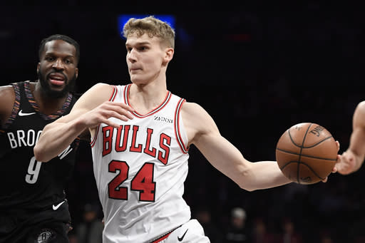 Markkanen has been simply feasting ever since the Bulls frontcourt cleared up. (Photo by Sarah Stier/Getty Images)