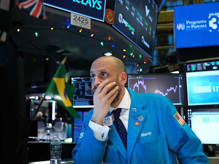 Traders work on the floor of the New York Stock Exchange (NYSE) on 3 January 2020: Getty Images
