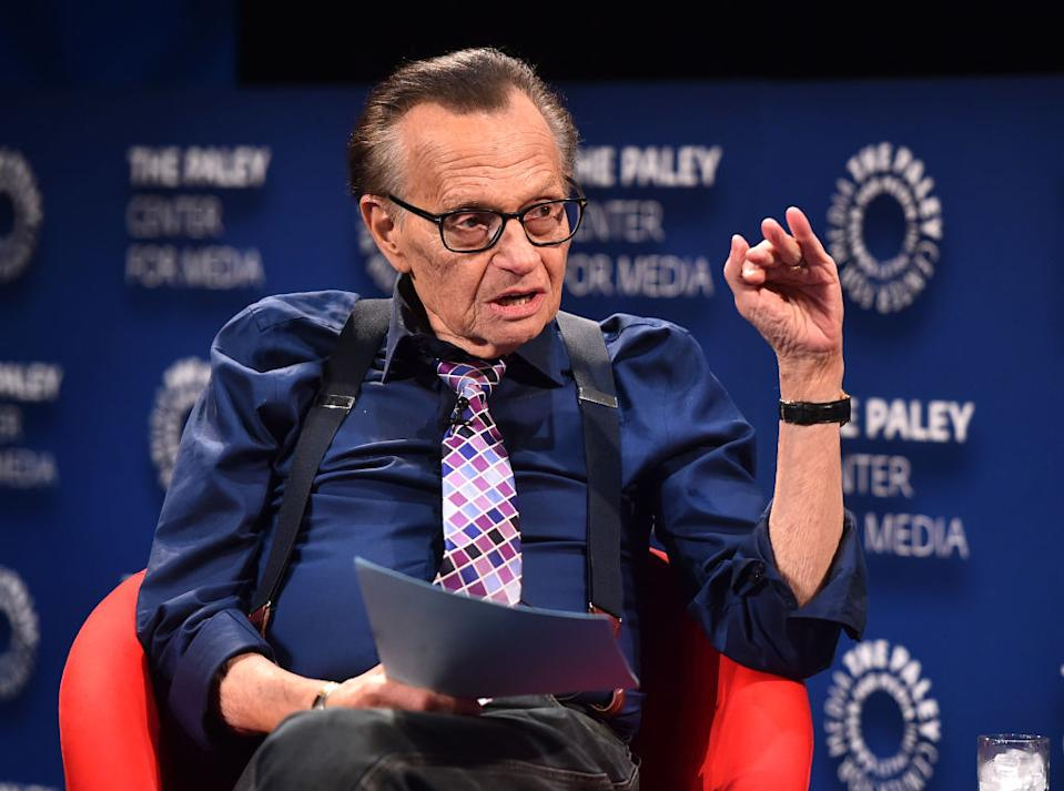 Larry King has interviewed thousands of politicians, celebrities and other newsmakers over the years.  (Photo: Alberto E. Rodriguez / Getty Images)