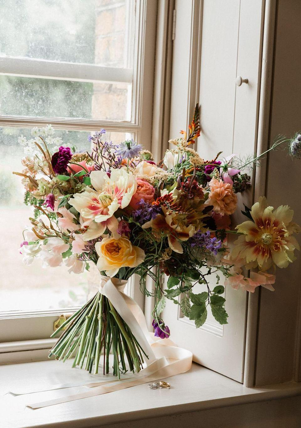 """<p>Founded in 2020 by florists Mairead and Athena, the experts have created one of the most famous London spots in London for those in need of blooming beautiful blooms. Having worked with <a href=""""https://www.elle.com/uk/fashion/a26379194/gigi-hadid-hits-the-burberry-runway-for-her-first-london-fashion-week-show/"""" rel=""""nofollow noopener"""" target=""""_blank"""" data-ylk=""""slk:Burberry"""" class=""""link rapid-noclick-resp"""">Burberry</a>, Calvin Klein, Dior and <a href=""""https://www.elle.com/uk/fashion/a22662683/stella-mccartney-not-done-fighting/"""" rel=""""nofollow noopener"""" target=""""_blank"""" data-ylk=""""slk:Stella McCartney"""" class=""""link rapid-noclick-resp"""">Stella McCartney</a>, Rebel Rebel – which won the Gold Award Chelsea In Bloom 2019 - is one of the most fashion-forward brands when it comes to marrying creativity, catwalk and foliage.</p><p>Creating everything from table displays, wall and ceilings hangings, pocket flowers and bouquets for their primarily London-based clientele, the florists also have a cutting garden and Flower School based in Tuscany, Italy for those having a wedding in the sunshine.</p><p>Click <a href=""""https://www.rebelrebel.co.uk"""" rel=""""nofollow noopener"""" target=""""_blank"""" data-ylk=""""slk:here"""" class=""""link rapid-noclick-resp"""">here</a> to find out more.</p>"""
