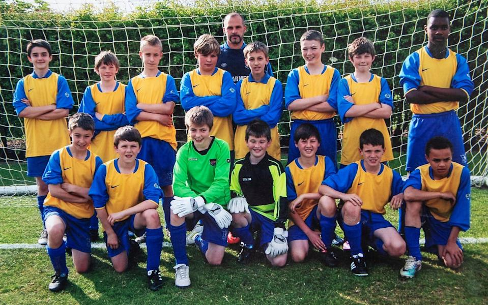 Declan rice, bottom row second from right, in his Grey court school days