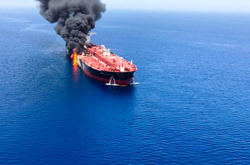Iranian state television's website claimed two oil tankers had been targeted (Reuters)