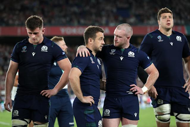 Scotland players dejected after World Cup exit (David Davies/PA Wire)