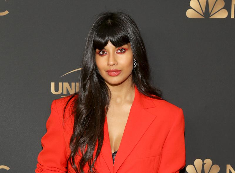 Jameela Jamil attends the NBC and Universal EMMY nominee celebration held at Tesse Restaurant on August 13, 2019 in West Hollywood