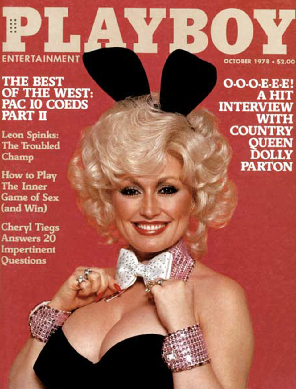 Dolly Parton on the October 1978 cover of Playboy. (Playboy)