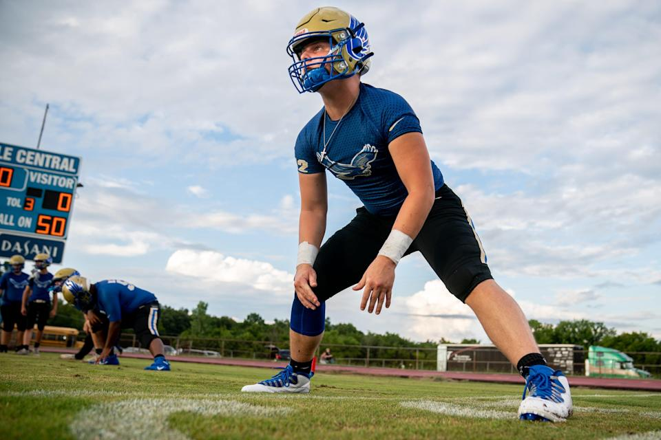 """""""Unfortunately, he's still doing about the same,"""" Cayden's dad and coach, Josh Puckett, told a local sports program. """"It's very frustrating."""""""