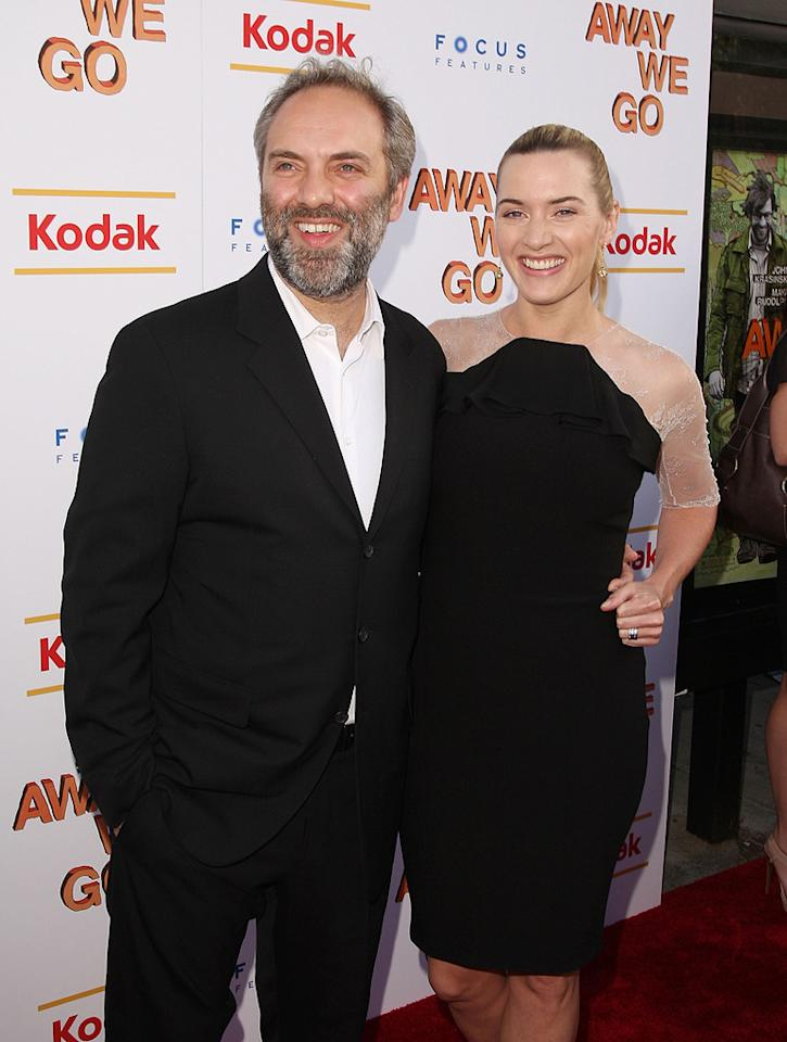 """<a href=""""http://movies.yahoo.com/movie/contributor/1800018631"""">Sam Mendes</a> and <a href=""""http://movies.yahoo.com/movie/contributor/1800019032"""">Kate Winslet</a> at the New York Screening of <a href=""""http://movies.yahoo.com/movie/1810022133/info"""">Away We Go</a> - 06/01/2009"""