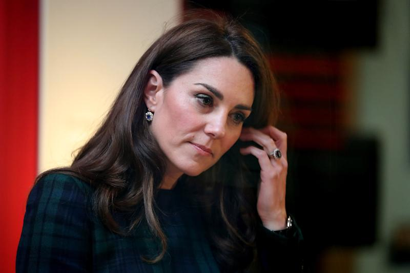 Catherine, the Duchess of Cambridge, visits Dundee, Scotland, to open the V&A Dundee on Jan. 29, 2019. (WPA Pool via Getty Images)