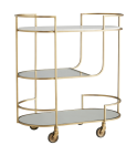 """<p>What do you get when you combine artistry with interiors? Arteriors. This brand is beloved by celebs such as Kendall Jenner and Jessica Alba. Here, the <a href=""""https://www.arteriorshome.com/trainor-bar-cart-6857"""" rel=""""nofollow noopener"""" target=""""_blank"""" data-ylk=""""slk:Trainor Bar Car"""" class=""""link rapid-noclick-resp"""">Trainor Bar Car</a> showcases the Arteriors' penchant for metallic accents. </p><p><a class=""""link rapid-noclick-resp"""" href=""""https://www.arteriorshome.com/shop/furniture"""" rel=""""nofollow noopener"""" target=""""_blank"""" data-ylk=""""slk:Shop"""">Shop</a> </p>"""
