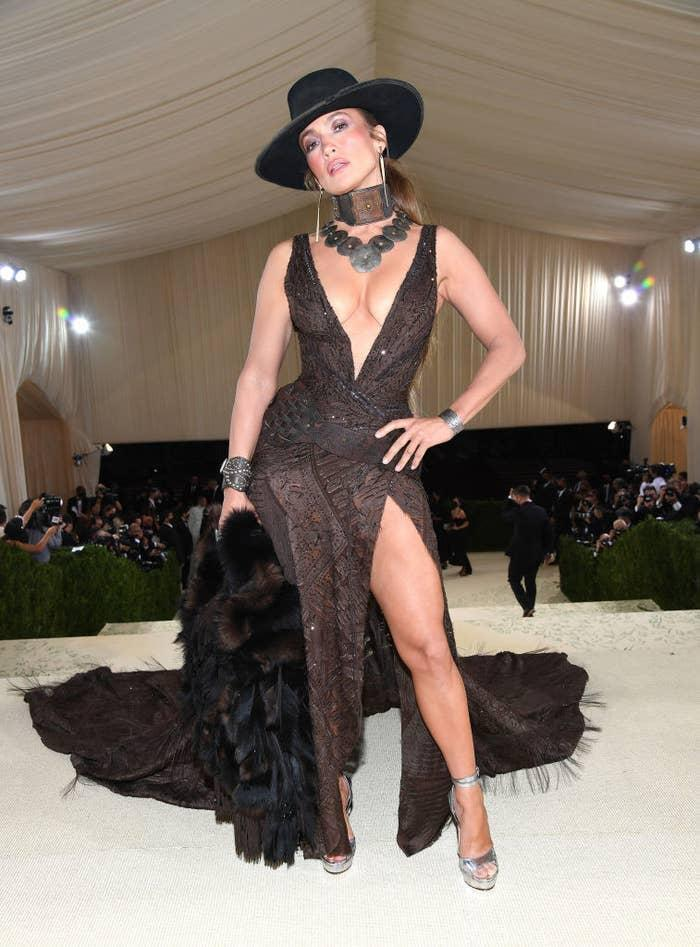 Jennifer Lopez attends The 2021 Met Gala Celebrating In America: A Lexicon Of Fashion