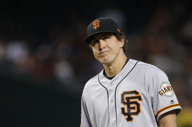 "<a class=""link rapid-noclick-resp"" href=""/mlb/players/8406/"" data-ylk=""slk:Derek Holland"">Derek Holland</a> thought he was being quite funny on MLB Network. He would soon receive some news to the contrary. (AP Photo)"
