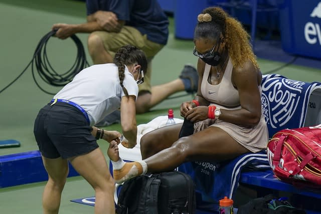 Williams needed treatmen to her Achilles