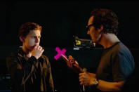 """<p>This Spider-Man-Doctor Strange summit was snapped backstage at Comic-Con on July 27 and posted on Instagram the following week. """"Benedict [Cumberbatch] demonstrating his magical powers. Very strange!"""" notes Holland. <b><i>(Photo: <a href=""""https://www.instagram.com/p/BJojNyMjE6T/"""" rel=""""nofollow noopener"""" target=""""_blank"""" data-ylk=""""slk:Tom Holland/Instagram"""" class=""""link rapid-noclick-resp"""">Tom Holland/Instagram</a>)</i></b><br></p>"""