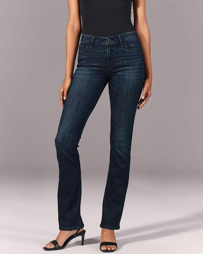 Mid Rise Bootcut Jeans. Image via Abercrombie & Fitch.