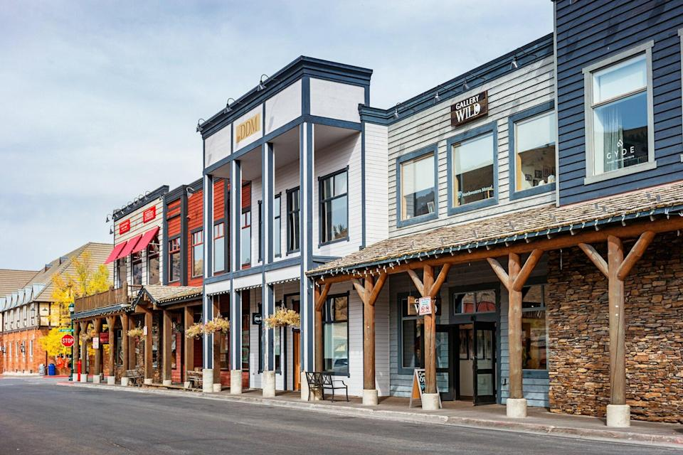 Businesses in downtown Jackson, Wyoming