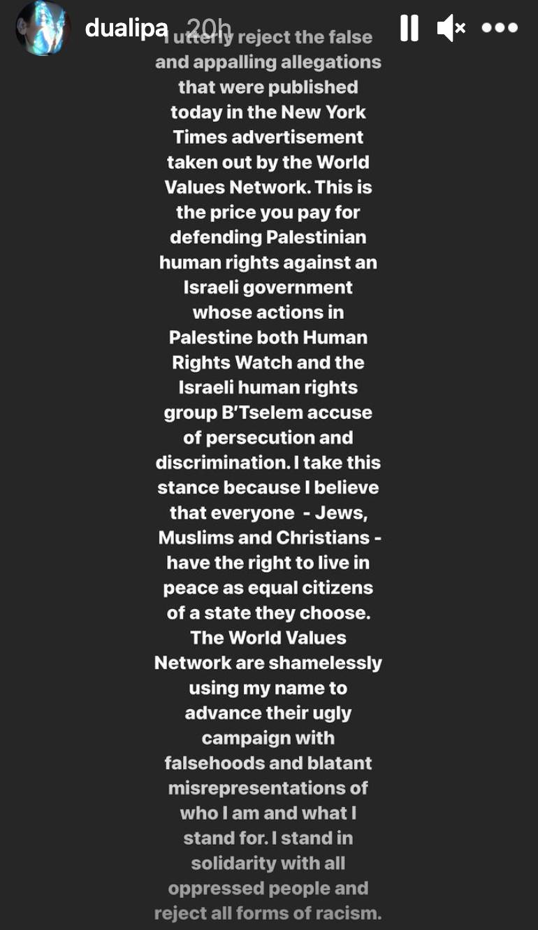 The singer is speaking out about the group's allegations. (Screenshot: Instagram Stories)