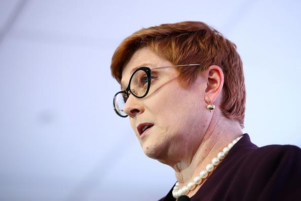 Marise Payne, Australia's foreign minister, speaks during an address to the United States Studies Centre in Sydney.