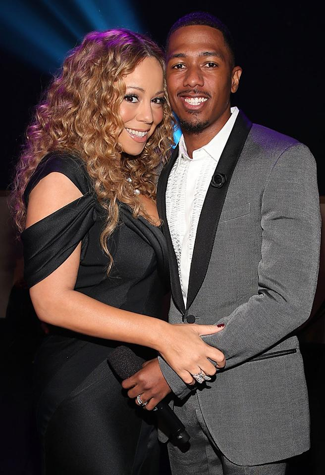 HOLLYWOOD, CA - NOVEMBER 17:  Singer Mariah Carey and TeenNick Chairman and HALO Awards host Nick Cannon attend Nickelodeon's 2012 TeenNick HALO Awards at Hollywood Palladium on November 17, 2012 in Hollywood, California. The show premieres on Monday, November 19th, 8:00p.m. (ET) on Nick at Nite.  (Photo by Christopher Polk/Getty Images For Nickelodeon)