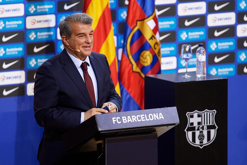 Joan Laporta, presidente del Barcelona. (Foto: Alex Caparros / Getty Images).