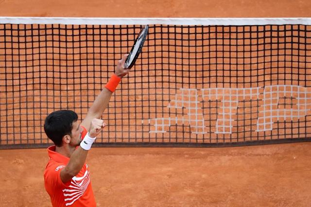 Djokovic needed five match points to book his third-round spot (AFP Photo/Valery HACHE)
