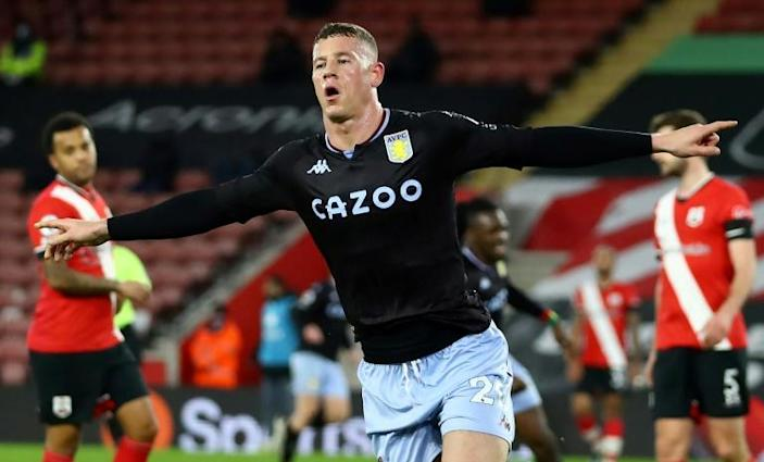 Bark and bite: Ross Barkley (centre) scored Aston Villa's winner at Southampton