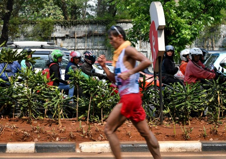 Indonesia's Hendro finished last after a brutally tough 50km race walk