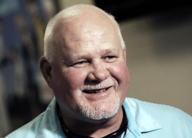 Minnesota Twins manager Ron Gardenhire smiles as he is interviewed after a baseball news conference Monday, Sept. 30, 2013, in Minneapolis, announcing that Gardenhire has signed a two-year deal. (AP Photo/Jim Mone)