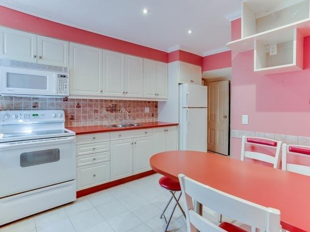 "<p><a rel=""nofollow"">204 Fairview Ave., Toronto, Ont.</a><br />The kitchen has been recently renovated, and the home comes with two fridges, three stoves, a built-in microwave and a chest freezer.<br />(Photo: Zoocasa) </p>"