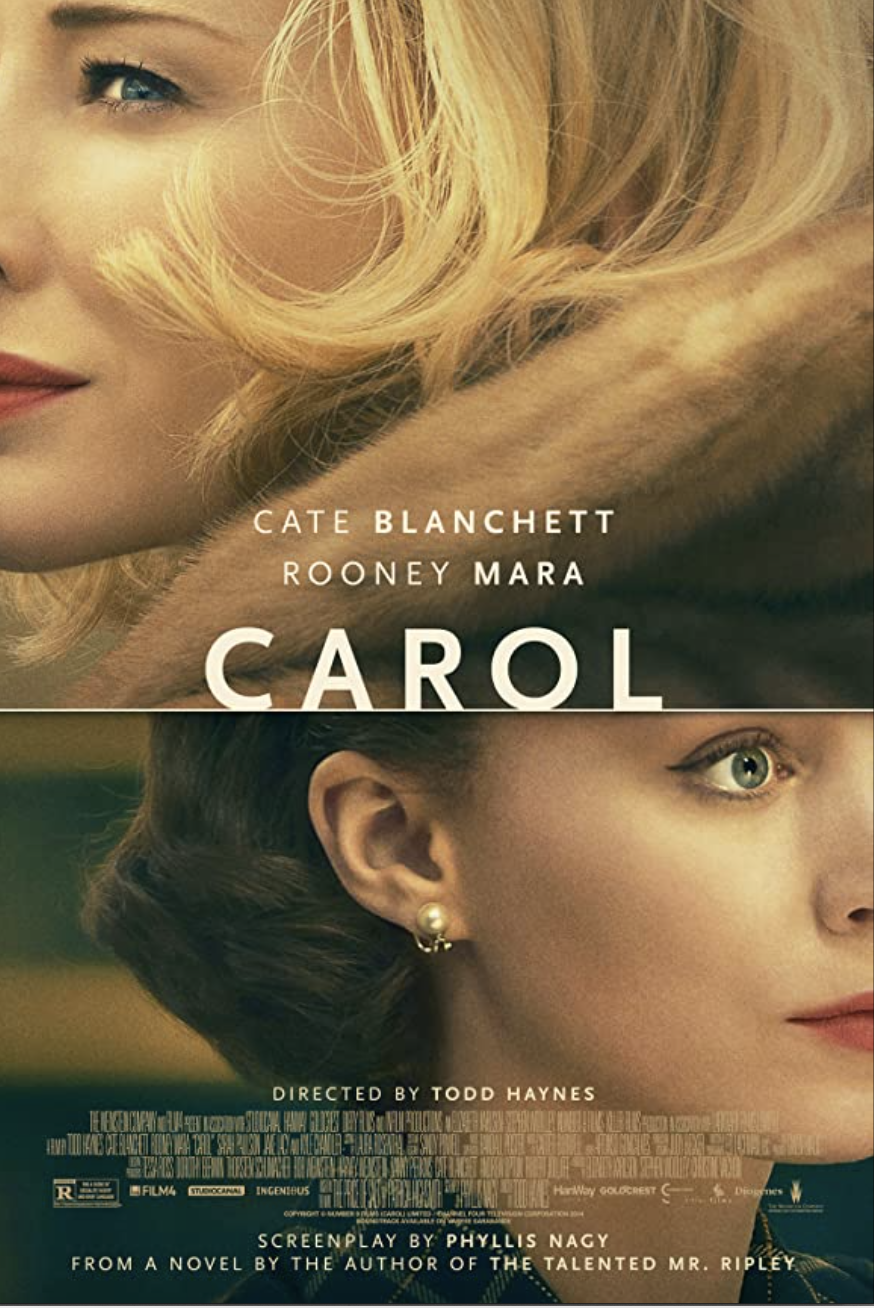 "<p>A wealthy woman and a department store clerk begin an illicit affair in this must-watch LGBTQ film set in the 1950s. Adapted from the book, <em>The Price of Salt</em> by Patricia Highsmith, it depicts how romance can blindside you and change your life.</p><p><a class=""link rapid-noclick-resp"" href=""https://www.netflix.com/title/80058700"" rel=""nofollow noopener"" target=""_blank"" data-ylk=""slk:STREAM NOW"">STREAM NOW</a></p><p><strong>RELATED: </strong><a href=""https://www.goodhousekeeping.com/life/entertainment/g27814264/best-gay-lgbt-books/"" rel=""nofollow noopener"" target=""_blank"" data-ylk=""slk:Best LGBTQ Books to Read This Month"" class=""link rapid-noclick-resp"">Best LGBTQ Books to Read This Month</a></p>"