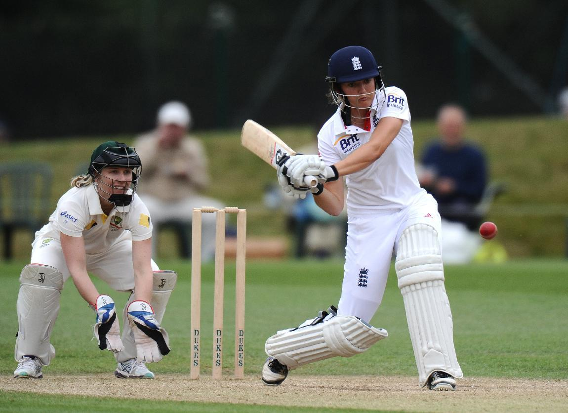 England's Sarah Taylor batting during day four of the First Women's Ashes test match at Wormsley Cricket Ground, High Wycombe.