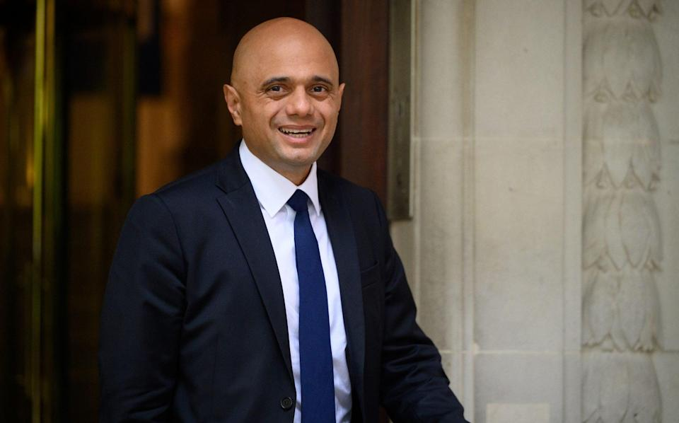 Sajid Javid at a doctor's surgery - Leon Neal/Getty