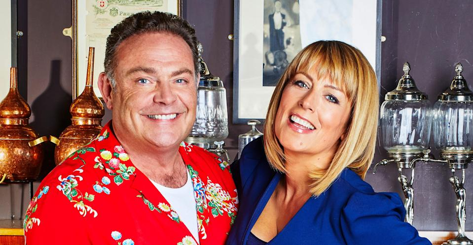 Fay Ripley with her 'Cold Feet' co-star John Thomson. (REX/Shutterstock)