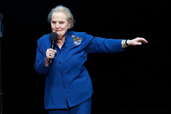 Albright is one of the most high-profile American diplomats to have visited North Korea on official business and met with the former North Korean leader Kim Jong Il in Pyongyang in 2000: Getty
