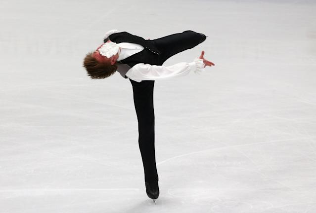 Figure Skating - World Figure Skating Championships - The Mediolanum Forum, Milan, Italy - March 22, 2018 Latvia's Deniss Vasiljevs during the Men's Short Programme REUTERS/Alessandro Bianchi TPX IMAGES OF THE DAY