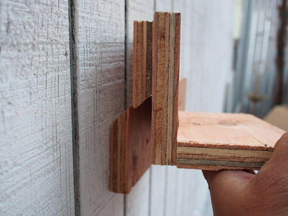 <p>Hang the shelf wherever you'd like along the length of the cleat.</p>