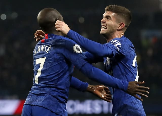 Chelsea fought hard and took the lead through N'Golo Kante (left) (Martin Rickett/PA)