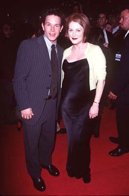 """Premiere: <a href=""""/movie/contributor/1800019716"""">Mark Wahlberg</a> and <a href=""""/movie/contributor/1800020233"""">Julianne Moore</a> at the Hollywood premiere of New Line's <a href=""""/movie/1800020724/info"""">Boogie Nights</a> - 10/15/1997<br><font size=""""-1"""">Photo: <a href=""""http://www.wireimage.com"""">Steve Granitz/Wireimage.com</a></font>"""