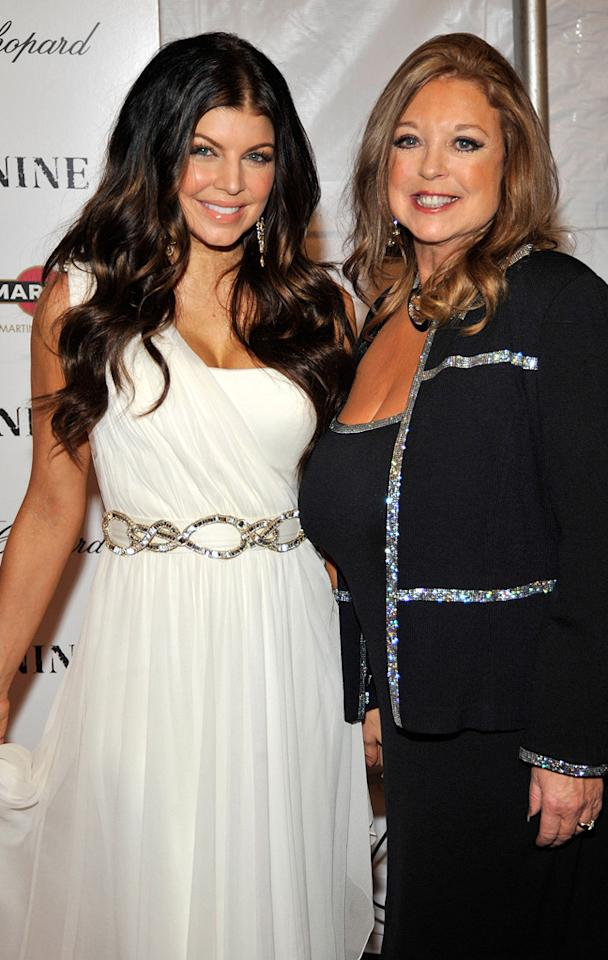 """<a href=""""http://movies.yahoo.com/movie/contributor/1809169648"""">Stacy Ferguson</a> and mother Terri at the New York City screening of <a href=""""http://movies.yahoo.com/movie/1810053986/info"""">Nine</a> - 12/15/2009"""