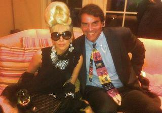 """Rodrigo Otazu designed the accessories for this outfit Lady Gaga wore when she met and <a target=""""_blank"""" href=""""http://news.yahoo.com/blogs/the-difference/obama-intimidating-meeting-lady-gaga-155700389.html"""">""""intimidated""""</a> President Obama. <br><br>(Photo courtesy of Rodrigo Otazu)"""