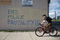 Protesters rally in Detroit against the death of George Floyd