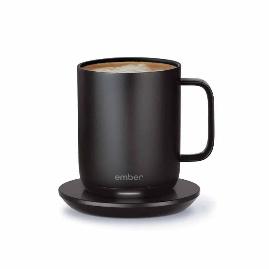 "This <a href=""https://www.glamour.com/story/shop-the-best-coffee-mugs?mbid=synd_yahoo_rss"" rel=""nofollow noopener"" target=""_blank"" data-ylk=""slk:smart coffee mug"" class=""link rapid-noclick-resp"">smart coffee mug</a> will allow them to set an exact drinking temperature so their coffee is never too hot or too cold. It maintains its temperature for 1.5 hours, cutting down on trips to the microwave for neglected joe. $99, Bloomingdale's. <a href=""https://www.bloomingdales.com/shop/product/ember-gen-2-mug-10-oz.?ID=3479664"" rel=""nofollow noopener"" target=""_blank"" data-ylk=""slk:Get it now!"" class=""link rapid-noclick-resp"">Get it now!</a>"
