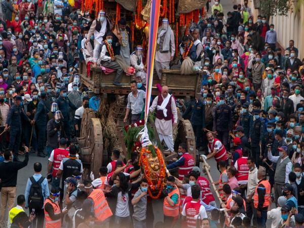 Chariot procession in Nepal