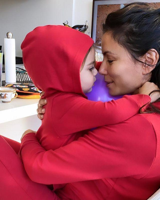 <p>It's sweats and snuggles with baby Santiago for the star's Christmas Eve celebration.</p>