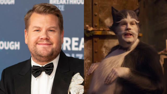 The horror, the horror. The absolute horror of all of this. People like cats, but human-cat hybrids with the face of James Corden are a different kettle of (cat)fish entirely. (Credit: Peter Barreras/Invision/AP/Universal)