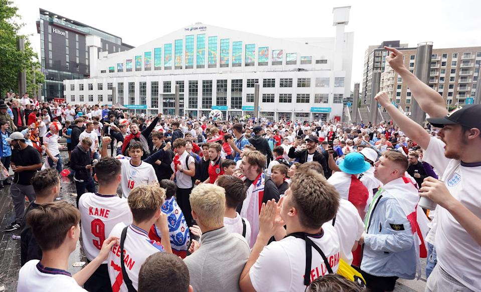 England fans outside Wembley Stadium (PA Wire)