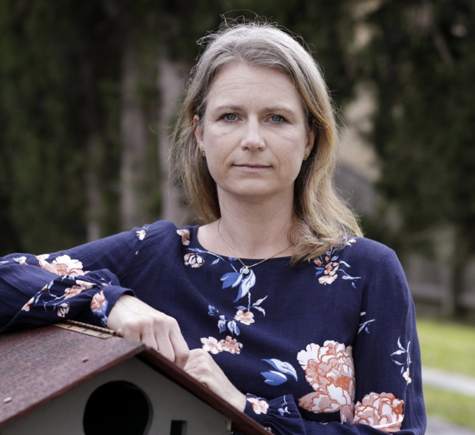 Astrid Magenau poses for a photo at her home in Sydney on Oct. 19. Source: AP